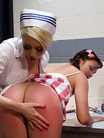 Candy striper used and abused by sadistic lesbian nurse picture #2