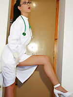 Kinky doctor gets off with latex picture #4