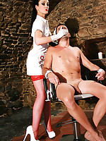 Sadistic dentist in the dungeon picture #10